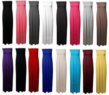 Womens Ladies Sheering Gather Bandeau Boobtube Basic Casual Maxi Dress UK 8-26