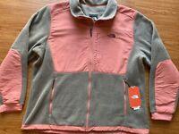 NWT The North Face Women's Denali 2 Fleece Jacket Full Zip XL Brown Rose Pink