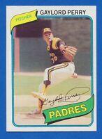 1980 Topps #280 Gaylord Perry San Diego Padres HOF NM