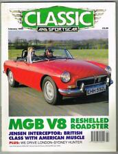 Classic and Sportscar Magazine February 1993 MBox1089 MGB V8 Reshelled Roadster