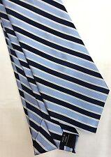 Croft & Barrow Mens Tie 100% Silk 60 long 4 wide blue striped new in wrapper