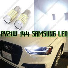 2x PY21W BAU15S 144 SAMSUNG LEDS White CANBUS Error Free Car Signal light Bulb
