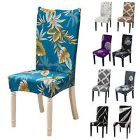Retro Stretch Banquet Floral Seat Spandex Chair Cover Dining Room Party Decor