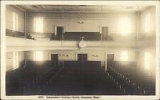 Gloucester Ma Christian Church Interior c1915 Real Photo Postcard