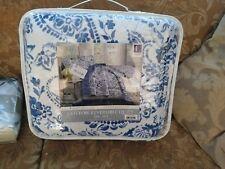JCPENNEY $229 Quilt Set QUEEN 3pc PORCELAIN BLUE FLORAL