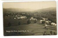 RPPC Birdseye View of CHESTER VT VT Vermont 1915 Real Photo Postcard