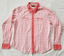 NWOT Wrangler Aura Womens Western Button Down Shirt Size Large Pink Paisley