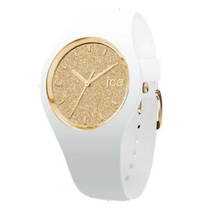 Ice-Watch Ladies Ice-Glitter White Silicone Strap Small Watch RRP £90
