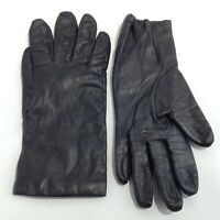 Vintage FOWNES Cashmere Lined Leather Gloves Made in Philippines Size 7.5 Black