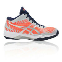 Asics Mens Volley Elite FF MT Court Shoes Navy Blue Orange White Sports Handball