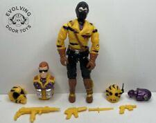 Black Major Custom Gi Joe Cobra Worms With Accessories Tiger Force