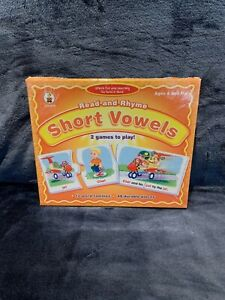 Read and Rhyme Short Vowels - 2 Games To Play Educational Game Brand NEW Sealed
