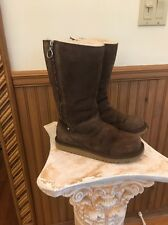 UGG   AUSTRALIA AUTHENTIC Kids Hayden Rainbow Zipper Boots - Brown US Size 4