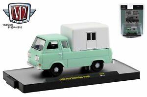 1:64 M2 Machines *MINT GREEN* 1965 Ford Econoline Pickup Camper  *HOBBY EX* NIP