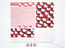 VINTAGE SANRIO 76, 90 HELLO KITTY Stationery Letter Set 6 Shts 3 Envl + Stickers