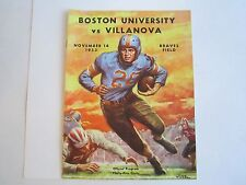 1953 BOSTON COLLEGE VS VILLANOVA COLLEGE FOOTBALL PROGRAM - TUB BN-14