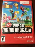 New Super Mario Bros. Wii (Nintendo Wii, 2009) Great Conditions And Complete