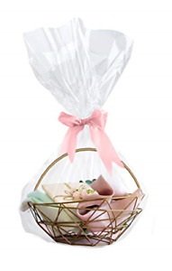 """Clear Cellophane Gift Bags for Wrapping Baskets 20 Pack 24"""" x 30"""" Cellophane Bag"""