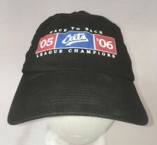 Fort Worth Cats Hat League Champions 05-06 Black Cap Used