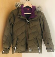 Spyder Girls Jacket sz 10 Olive Green - Purple