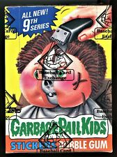 1987 Topps Garbage Pail Kids 9th Series Box W/ 48 Packs & Poster BBCE Authentica