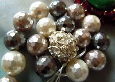 Angebot Zweifarbige Seafoam&light Gray Lido Bicolor Round Murano-perle-12mm- Perlen, Schmucksteine &-kugeln