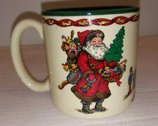 Vintage 1991 Potpourri Press Kris Kringle Coffee Mug Christmas Santa Claus