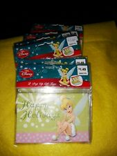 Disney Tinker bell pop up gift tags Lot of 10 2 cards per pack Total of 20 cards