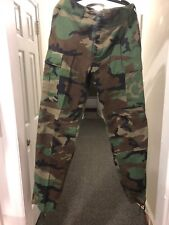 Genuine US MILITARY issued BDU Trousers/Pants/Fatigues - WOODLAND CAMO - Lg/Reg