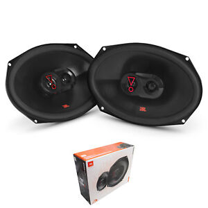 """Pair of JBL 6""""x 9"""" 375 Watt 3 Ohm 3-Way Coaxial Car Speaker Without Grille"""