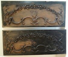 """Pair of Antique Decorative Walnut Carved Panels 24"""""""