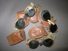 WW2 US army Mountain Troops Ski Fur 10th Goggles Pair With Pouch 5pcs LOT