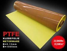 PTFE Glasgewebe Klebefolie / Teflon-Folie selbstklebend / 0,13mm / B=1000mm