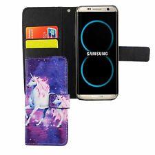 Schutz Hülle für Handy Samsung Galaxy S8 Einhorn Magic Tasche Case Wallet Cover