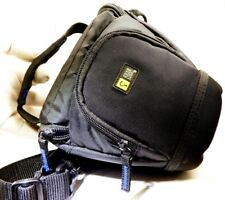 "Case Logic camera Case (Size: 4 x 6 x 7"") top load Black Blue w/ Shoulder strap"