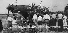R.A.F. DOWN GERMAN AIRCRAFT SOUTH MUNDHAM CHICHESTER  WORLD WAR 11 MOUNTED PRINT