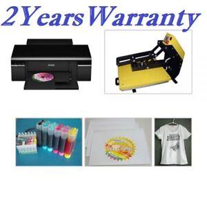 T-shirt Heat Press Kit, Machine + Sublimation Paper + Epson printer + T-shirt