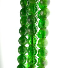 """5MM CHROME DIOPSIDE GEMSTONE GRADE AA GREEN ROUND LOOSE BEADS 7.5"""""""