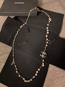 Original Chanel XXL Perlenkette Gold Klassiker CC, Gestempelt