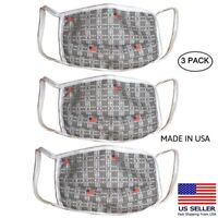 Reusable Washable Face Mask Cover Multi Layer Breathable 3 Pack SHIPS FROM USA