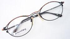 Brille Brillengestell Gestell Metallrahmen bunt schwarz oval fetzig Grösse M