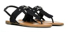 Guess G by Leaah thong sandals black studded sz 6 Med NEW
