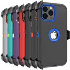 For iPhone 13 Pro 13 Pro Max Case Shockproof Heavy Duty Cover+Belt Clip Holster