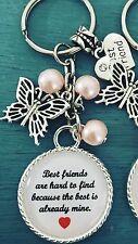 Best Friends Are Hard To Find Keyring Gift Keepsake Bag Charm