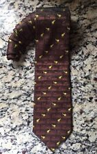 EUC Mens RMZZ Elephants tie 100% Silk- Hand Made. Fast Free Shipping!!