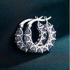 925 Silver,gold Hoop Earrings For Women Fashion Cubic Zirconia Wedding Jewelry