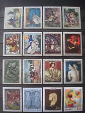 FRANCE 27 LARGE SIZE STAMPS OVER ARTS MNH** 2 SCANS o/w paintings