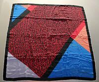 Christian Dior France Multi Color Mousseline Silk Geometric Shawl Scarf Wrap VTG