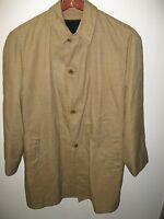 Cambridge Vintage 1960's Retro Era Tartan Plaid Lined Overcoat Raincoat Coat 38