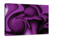 PURPLE ABSTRACT CANVAS PICTURE WALL ART PRINT framed A2